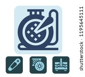 sewing icon. sewing icons for... | Shutterstock .eps vector #1195645111