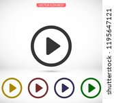 play video vector icon | Shutterstock .eps vector #1195647121