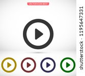 button player vector icon | Shutterstock .eps vector #1195647331