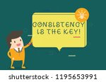 writing note showing... | Shutterstock . vector #1195653991