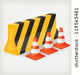 Traffic Cone And Block Road....