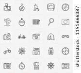 adventure line icon set with... | Shutterstock .eps vector #1195666387