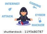 hacker internet computer...   Shutterstock .eps vector #1195680787