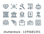 law and judgement line icons.... | Shutterstock .eps vector #1195681351