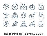 location and navigation line...   Shutterstock .eps vector #1195681384