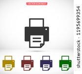 printer icon vector | Shutterstock .eps vector #1195699354