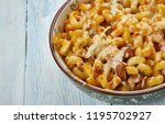homemade cheeseburger macaroni... | Shutterstock . vector #1195702927