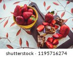 organic strawberries  homemade... | Shutterstock . vector #1195716274