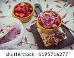 organic strawberries  homemade... | Shutterstock . vector #1195716277