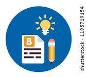 blogging icon set | Shutterstock .eps vector #1195719154