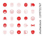 emotion icon. collection of 25... | Shutterstock .eps vector #1195721767