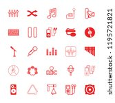 sound icon. collection of 25... | Shutterstock .eps vector #1195721821