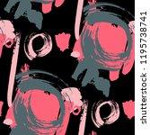 brush strokes. seamless texture ... | Shutterstock .eps vector #1195738741