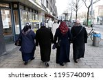 people walk in central streets... | Shutterstock . vector #1195740091