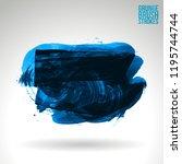 blue brush stroke and texture.... | Shutterstock .eps vector #1195744744