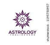astrology logo design vector....   Shutterstock .eps vector #1195750957