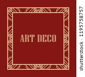 vintage retro style invitation...   Shutterstock .eps vector #1195758757