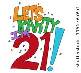 an image of a lets party im... | Shutterstock .eps vector #1195765951