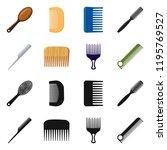 vector illustration of brush...   Shutterstock .eps vector #1195769527