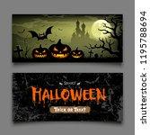 halloween banners horizontal... | Shutterstock .eps vector #1195788694