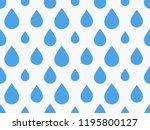 drops pattern. endless... | Shutterstock .eps vector #1195800127