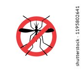 warning mosquito sign | Shutterstock .eps vector #1195802641