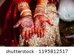pakistani indian bridal showing ... | Shutterstock . vector #1195812517