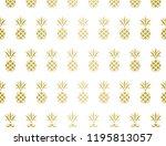 modern pineapple background.... | Shutterstock .eps vector #1195813057