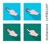 vector design of touchscreen... | Shutterstock .eps vector #1195821247