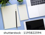 top view of business office on... | Shutterstock . vector #1195822594