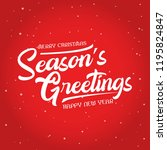 season greetings vector... | Shutterstock .eps vector #1195824847