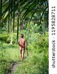 indians of the mentawai tribe ... | Shutterstock . vector #1195828711