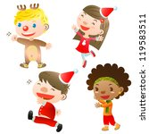 christmas children | Shutterstock .eps vector #119583511