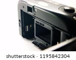 vintage pocket camera with the... | Shutterstock . vector #1195842304