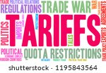 tariffs word cloud on a white... | Shutterstock .eps vector #1195843564
