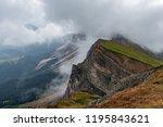 clouds in the seceda in...   Shutterstock . vector #1195843621