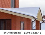 roof of a country house in the... | Shutterstock . vector #1195853641