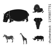 different animals black icons... | Shutterstock . vector #1195857751
