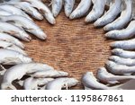 dried salted fish. salted fish...   Shutterstock . vector #1195867861