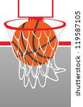 illustration basketball hoop... | Shutterstock . vector #119587105