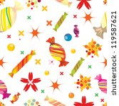 seamless pattern with candies... | Shutterstock .eps vector #119587621