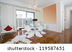 modern dining area with round... | Shutterstock . vector #119587651
