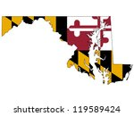 maryland vector map with the... | Shutterstock .eps vector #119589424