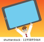 flat design business vector... | Shutterstock .eps vector #1195895464