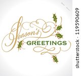 season's greetings hand... | Shutterstock .eps vector #119590609
