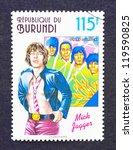 Постер, плакат: a postage stamp printed