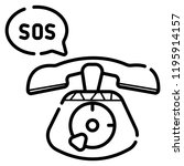 sos call icon vector... | Shutterstock .eps vector #1195914157