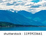 majestic mountain lake in... | Shutterstock . vector #1195923661
