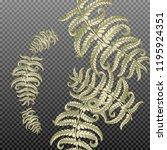 fern frond herbs  tropical... | Shutterstock .eps vector #1195924351