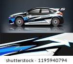 racing car decal wrap design.... | Shutterstock .eps vector #1195940794